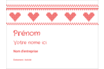 Saint-Valentin en point de croix Badges - gabarit prédéfini. <br/>Utilisez notre logiciel Avery Design & Print Online pour personnaliser facilement la conception.