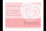 Saint-Valentin au crochet Badges - gabarit prédéfini. <br/>Utilisez notre logiciel Avery Design & Print Online pour personnaliser facilement la conception.