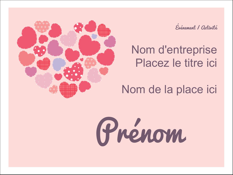 """3"""" x 4"""" Badges - Courtepointe en cœur"""