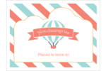 Ballon bleu Badges - gabarit prédéfini. <br/>Utilisez notre logiciel Avery Design & Print Online pour personnaliser facilement la conception.