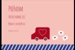 Saint-Valentin par la poste Étiquettes à codage couleur - gabarit prédéfini. <br/>Utilisez notre logiciel Avery Design & Print Online pour personnaliser facilement la conception.