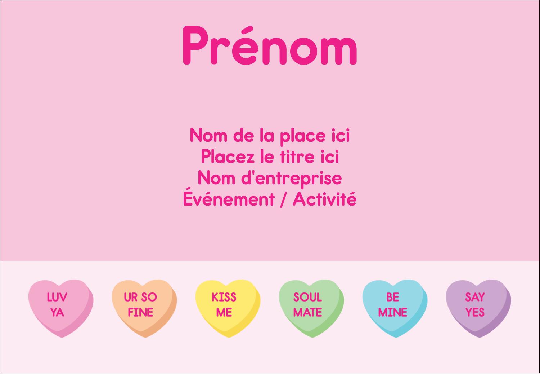 """1¼"""" Étiquettes à codage couleur - Bonbon en cœur de Saint-Valentin"""