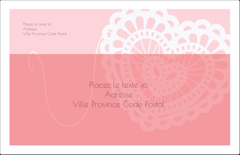 """1½"""" x 4"""" Étiquettes d'adresse - Saint-Valentin au crochet"""
