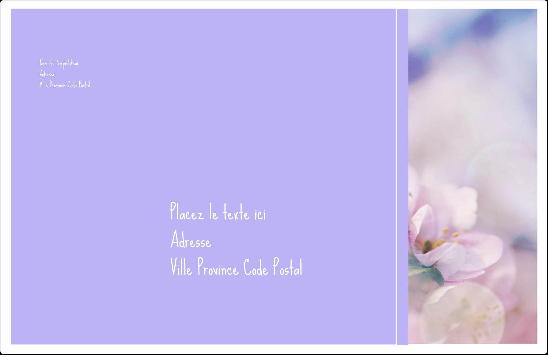 """1½"""" x 4"""" Étiquettes d'adresse - Arrangement floral"""