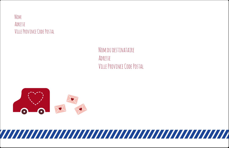 """1½"""" x 4"""" Étiquettes d'adresse - Saint-Valentin par la poste"""