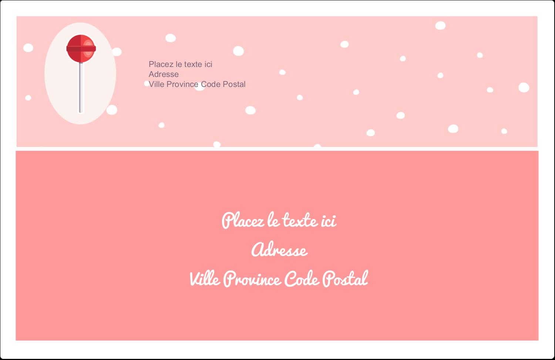 """1½"""" x 4"""" Étiquettes d'adresse - Sucette de Saint-Valentin"""