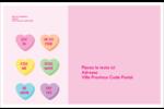 Bonbon en cœur de Saint-Valentin Étiquettes d'adresse - gabarit prédéfini. <br/>Utilisez notre logiciel Avery Design & Print Online pour personnaliser facilement la conception.