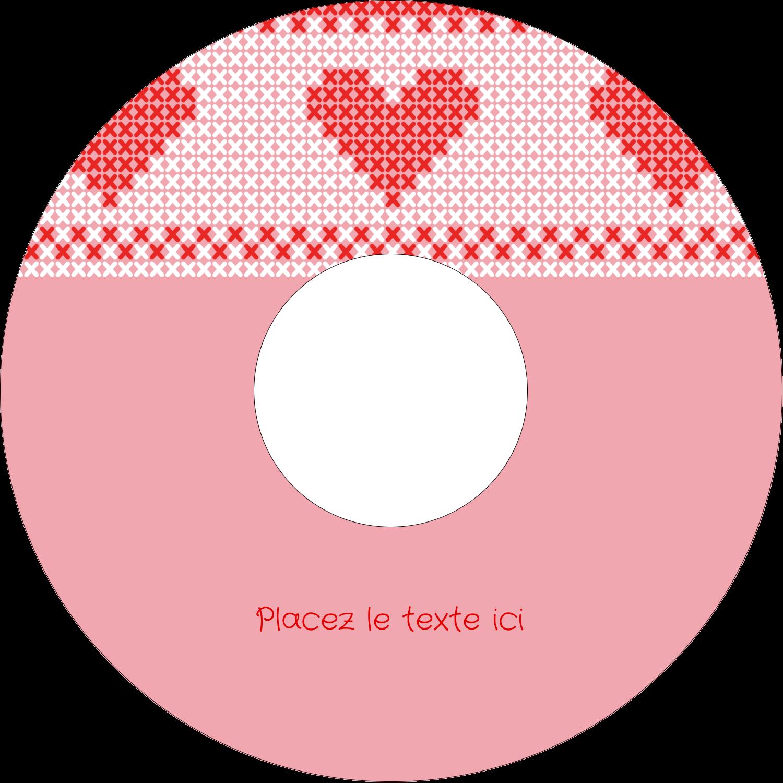 """⅔"""" x 3-7/16"""" Étiquettes de classement - Saint-Valentin en point de croix"""