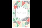 Mosaïque tangram rose et verte  Reliures - gabarit prédéfini. <br/>Utilisez notre logiciel Avery Design & Print Online pour personnaliser facilement la conception.