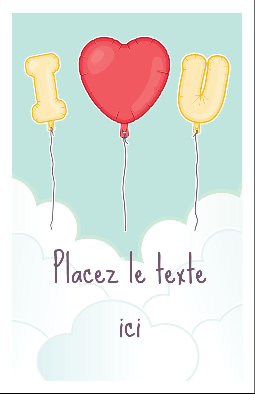 "8½"" x 11"" Binder Insert Reliures - Ballon d'amour de Saint-Valentin"