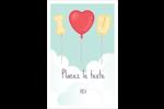 Ballon d'amour de Saint-Valentin Reliures - gabarit prédéfini. <br/>Utilisez notre logiciel Avery Design & Print Online pour personnaliser facilement la conception.