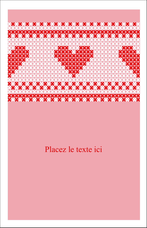 """8½"""" x 11"""" Binder Insert Reliures - Saint-Valentin en point de croix"""