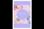 Arrangement floral Reliures - gabarit prédéfini. <br/>Utilisez notre logiciel Avery Design & Print Online pour personnaliser facilement la conception.