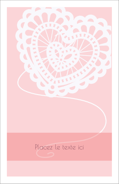 "8½"" x 11"" Binder Insert Reliures - Saint-Valentin au crochet"