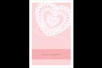 Saint-Valentin au crochet Reliures - gabarit prédéfini. <br/>Utilisez notre logiciel Avery Design & Print Online pour personnaliser facilement la conception.