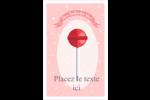 Sucette de Saint-Valentin Reliures - gabarit prédéfini. <br/>Utilisez notre logiciel Avery Design & Print Online pour personnaliser facilement la conception.