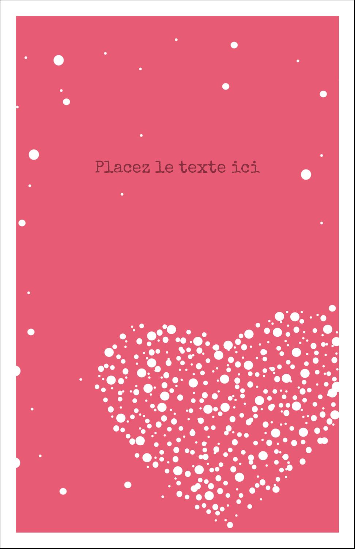 """8½"""" x 11"""" Binder Insert Reliures - Amas en cœur"""