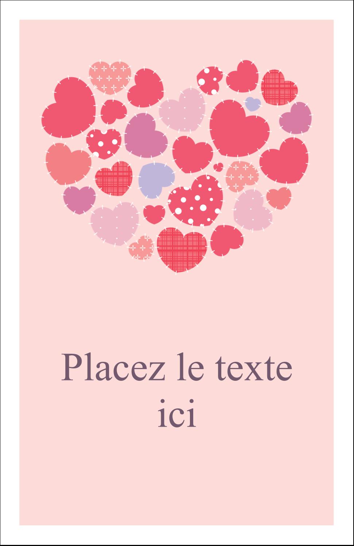 "8½"" x 11"" Binder Insert Reliures - Courtepointe en cœur"