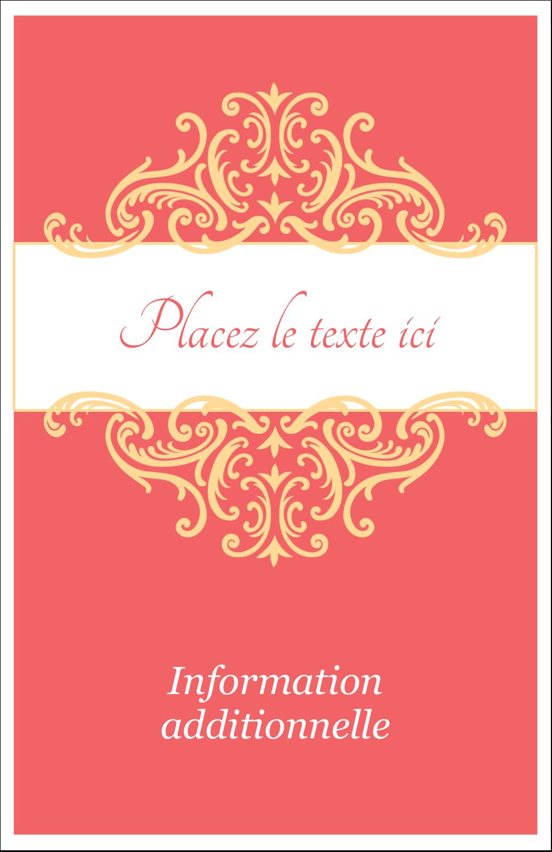 "8½"" x 11"" Binder Insert Reliures - Élégance et mariage"