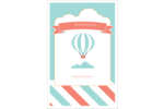 Ballon bleu Reliures - gabarit prédéfini. <br/>Utilisez notre logiciel Avery Design & Print Online pour personnaliser facilement la conception.