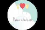Ballon d'amour de Saint-Valentin Étiquettes Voyantes - gabarit prédéfini. <br/>Utilisez notre logiciel Avery Design & Print Online pour personnaliser facilement la conception.