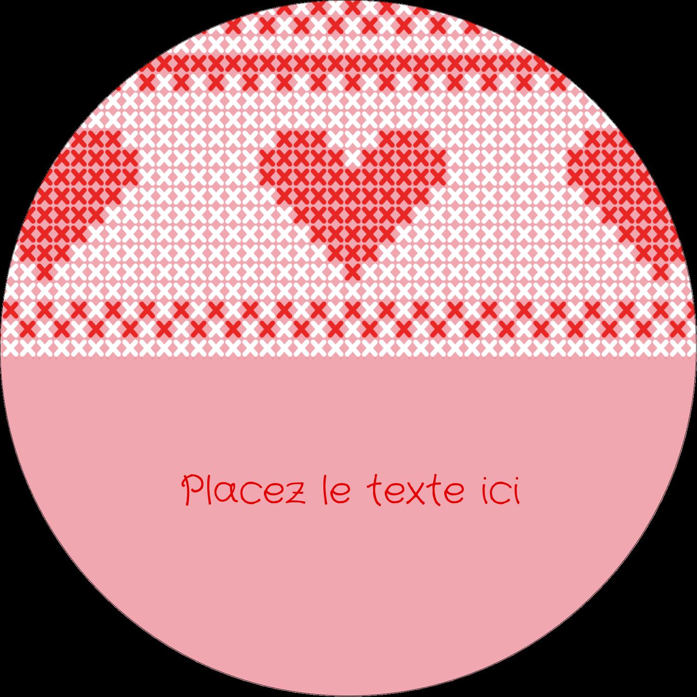 """2¼"""" x ¾"""" Étiquettes Voyantes - Saint-Valentin en point de croix"""