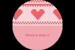 Saint-Valentin en point de croix Étiquettes Voyantes - gabarit prédéfini. <br/>Utilisez notre logiciel Avery Design & Print Online pour personnaliser facilement la conception.