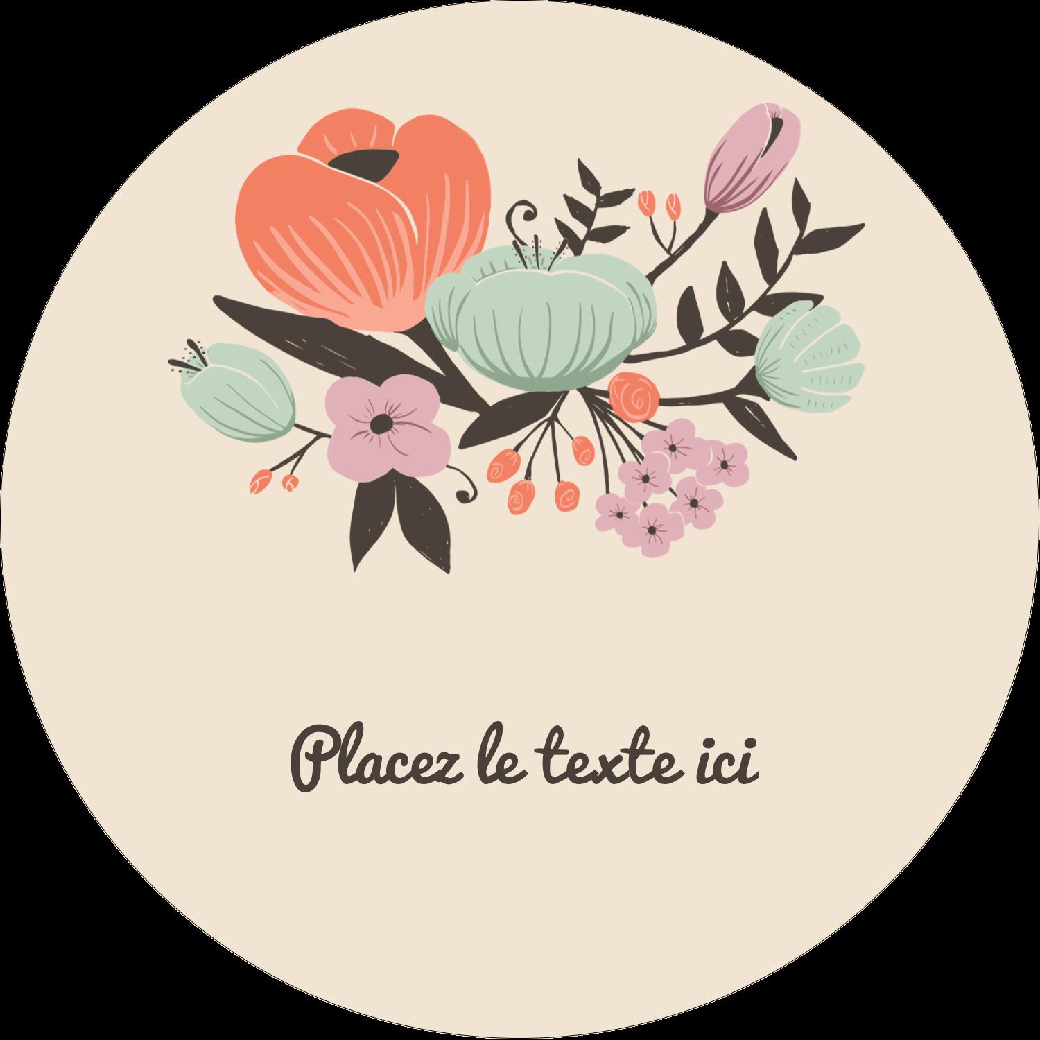 Jardin exotique Étiquettes Voyantes - gabarit prédéfini. <br/>Utilisez notre logiciel Avery Design & Print Online pour personnaliser facilement la conception.