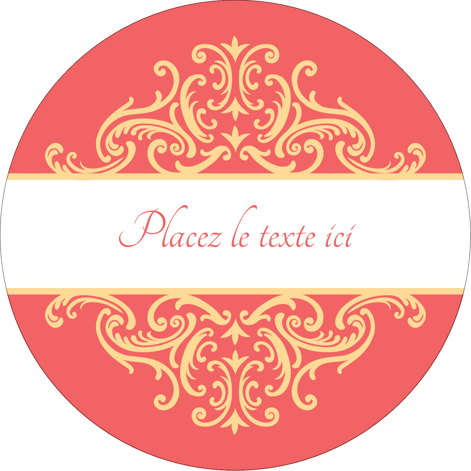"""2¼"""" x ¾"""" Étiquettes Voyantes - Élégance et mariage"""