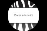 Imprimé zébré Étiquettes Voyantes - gabarit prédéfini. <br/>Utilisez notre logiciel Avery Design & Print Online pour personnaliser facilement la conception.
