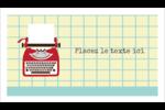Machine à écrire Cartes Pour Le Bureau - gabarit prédéfini. <br/>Utilisez notre logiciel Avery Design & Print Online pour personnaliser facilement la conception.
