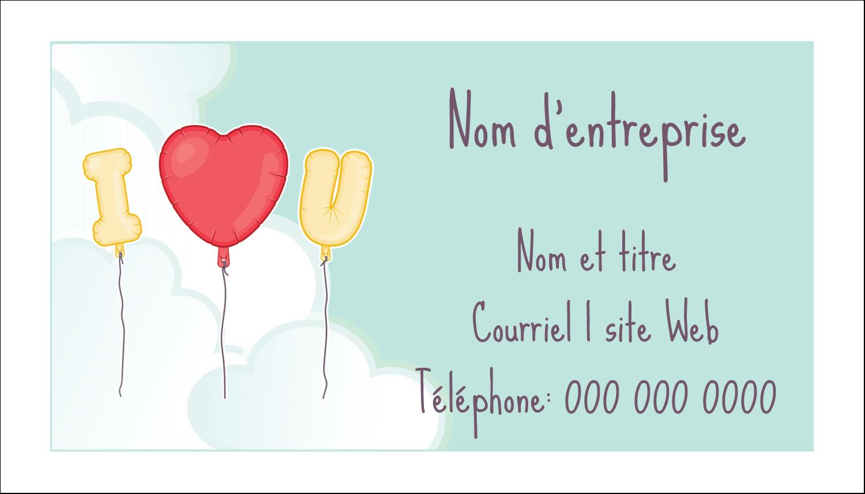 """3"""" x 5"""" Cartes Pour Le Bureau - Ballon d'amour de Saint-Valentin"""