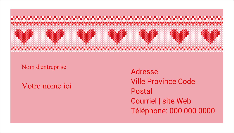 """3"""" x 5"""" Cartes Pour Le Bureau - Saint-Valentin en point de croix"""