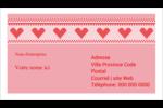 Saint-Valentin en point de croix Cartes Pour Le Bureau - gabarit prédéfini. <br/>Utilisez notre logiciel Avery Design & Print Online pour personnaliser facilement la conception.