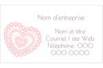 Saint-Valentin au crochet Cartes Pour Le Bureau - gabarit prédéfini. <br/>Utilisez notre logiciel Avery Design & Print Online pour personnaliser facilement la conception.