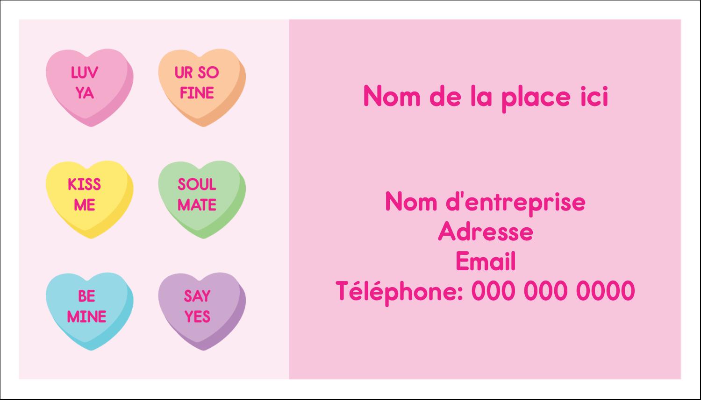 """3"""" x 5"""" Cartes Pour Le Bureau - Bonbon en cœur de Saint-Valentin"""