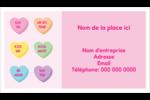 Bonbon en cœur de Saint-Valentin Cartes Pour Le Bureau - gabarit prédéfini. <br/>Utilisez notre logiciel Avery Design & Print Online pour personnaliser facilement la conception.