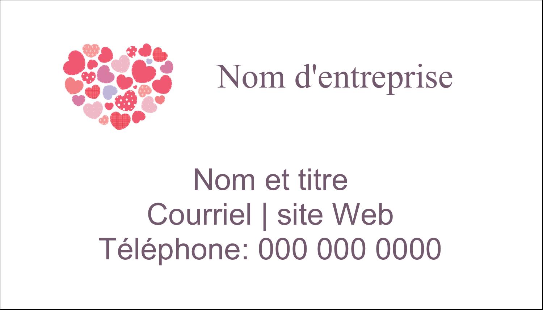 """3"""" x 5"""" Cartes Pour Le Bureau - Courtepointe en cœur"""