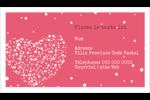 Amas en cœur Cartes Pour Le Bureau - gabarit prédéfini. <br/>Utilisez notre logiciel Avery Design & Print Online pour personnaliser facilement la conception.