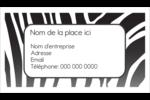 Imprimé zébré Cartes Pour Le Bureau - gabarit prédéfini. <br/>Utilisez notre logiciel Avery Design & Print Online pour personnaliser facilement la conception.