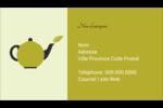 Théière Carte d'affaire - gabarit prédéfini. <br/>Utilisez notre logiciel Avery Design & Print Online pour personnaliser facilement la conception.