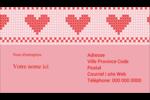 Saint-Valentin en point de croix Carte d'affaire - gabarit prédéfini. <br/>Utilisez notre logiciel Avery Design & Print Online pour personnaliser facilement la conception.