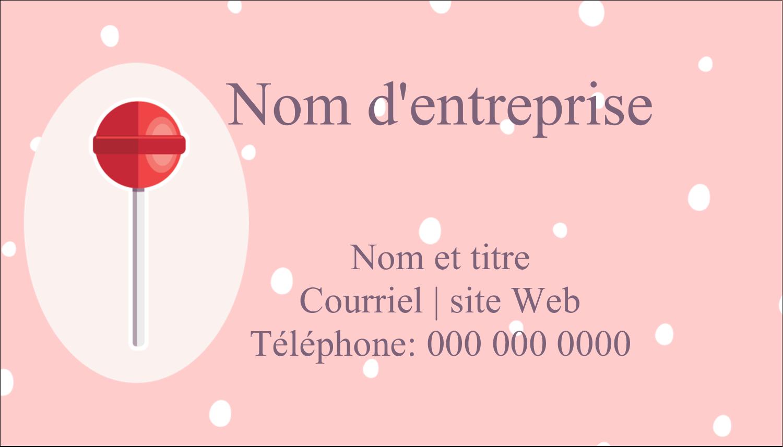"""2"""" x 3½"""" Carte d'affaire - Sucette de Saint-Valentin"""