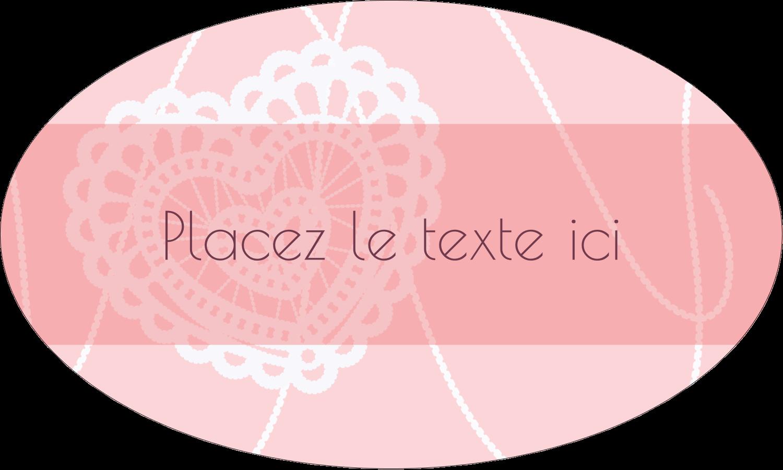 """1½"""" x 1½"""" Étiquettes carrées - Saint-Valentin au crochet"""