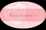 Saint-Valentin au crochet Étiquettes carrées - gabarit prédéfini. <br/>Utilisez notre logiciel Avery Design & Print Online pour personnaliser facilement la conception.