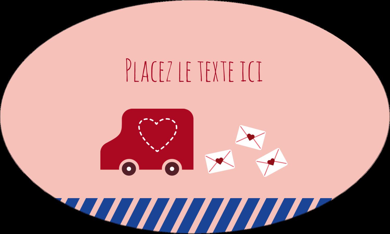 """1½"""" x 1½"""" Étiquettes carrées - Saint-Valentin par la poste"""