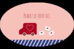 Saint-Valentin par la poste Étiquettes carrées - gabarit prédéfini. <br/>Utilisez notre logiciel Avery Design & Print Online pour personnaliser facilement la conception.