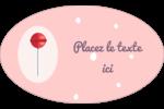 Sucette de Saint-Valentin Étiquettes carrées - gabarit prédéfini. <br/>Utilisez notre logiciel Avery Design & Print Online pour personnaliser facilement la conception.