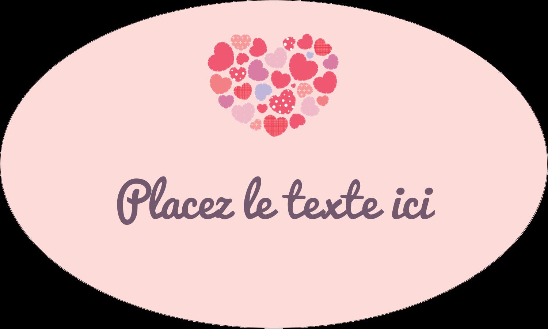 """1½"""" x 1½"""" Étiquettes carrées - Courtepointe en cœur"""