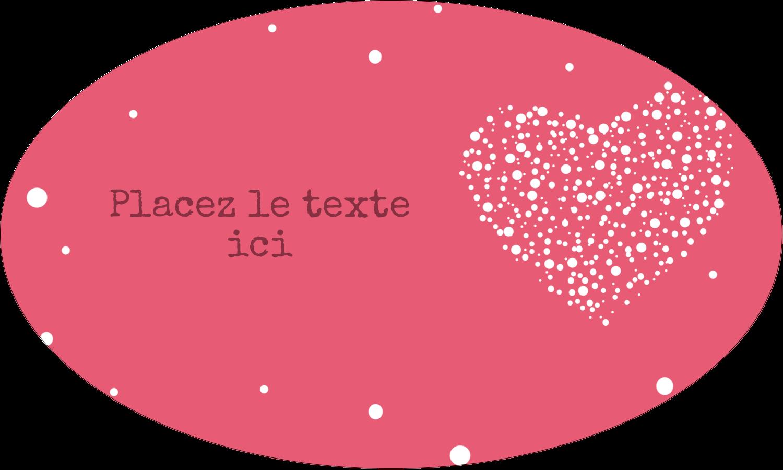 """1½"""" x 1½"""" Étiquettes carrées - Amas en cœur"""